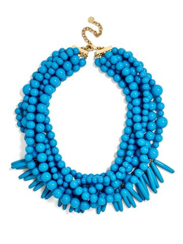 BaubleBar Malibu Statement Necklace-Cerulean