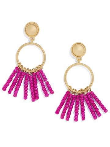 BaubleBar Manuela Tassel Earrings-Light Fuchsia