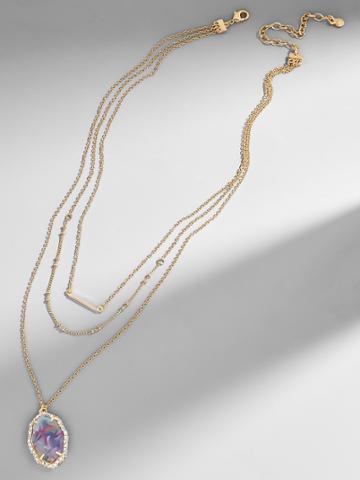 BaubleBar Ellory Resin Pendant Necklace
