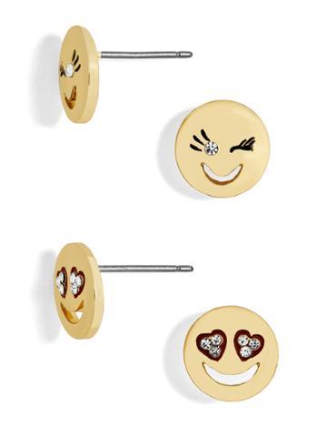 BaubleBar Ooh La La Emoticharm Stud Earring Set
