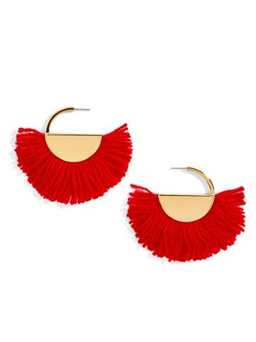BaubleBar Bonita Drop Earrings-Red