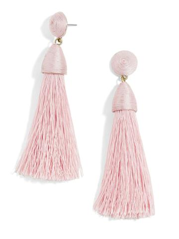 BaubleBar Rosabella Tassel Earrings-Blush