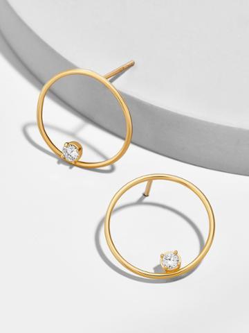 BaubleBar Pietra 18k Gold Plated Hoop Earrings