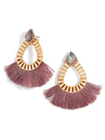 BaubleBar Ashira Fringe Hoop Earrings