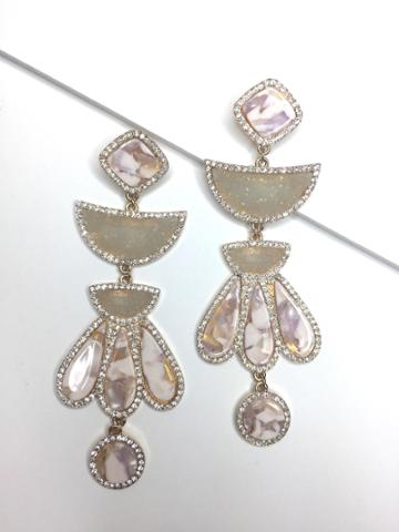 BaubleBar Athena Resin Drop Earrings