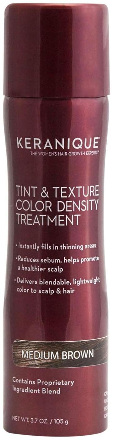 Keranique Tint & Texture Treatment Spray - Medium Brown - 3.7 Oz