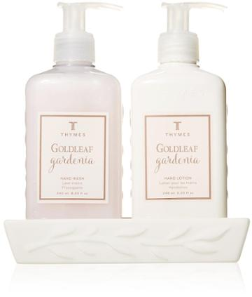 Thymes Goldleaf Gardenia Sink Set