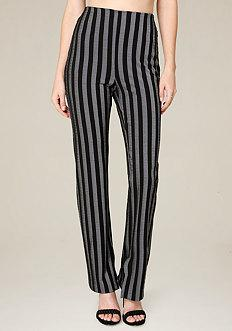 Bebe Striped Skinny Pants