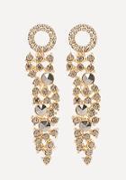 Bebe Dark Crystal Earrings