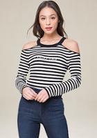Bebe Logo Ribbed Sweater