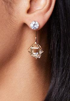 Bebe Floating Crystal Earrings