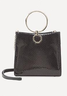 Bebe Theda Faux Snake Tote