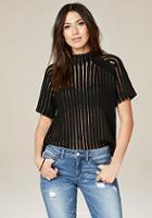 Bebe Sheer Striped Sweater