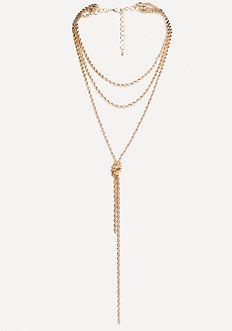 Bebe Twisted Chain Necklace