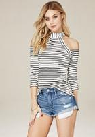 Bebe Laura Cold Shoulder Top