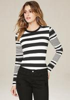 Bebe Mix Stripe Top