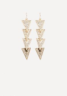 Bebe Multi-triangle Earrings