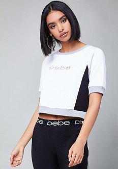 Bebe Logo Colorblock Top