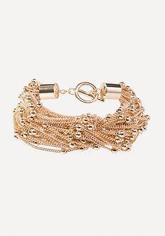 Bebe Chain & Bead Bracelet