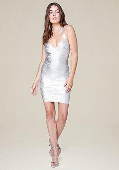 Bebe Spotlight Bandage Dress
