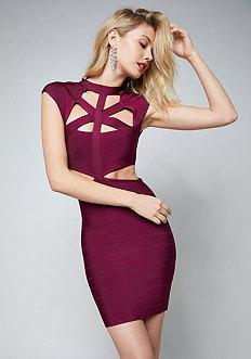 Bebe Cutout Bandage Mini Dress
