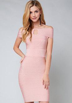 Bebe Shoshanna Bandage Dress