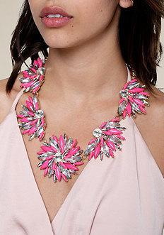 Bebe Floral Statement Necklace