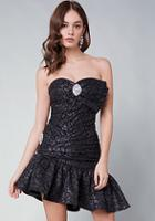 Bebe Bebe Logo Party Dress