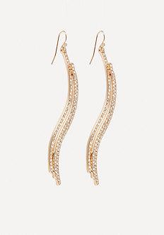 Bebe Triple Wave Linear Earrings