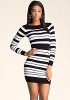 Bebe Boatneck Stripe Dress