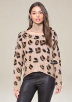 Bebe Brushed Leopard Sweater