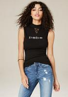 Bebe Logo Sleeveless Top