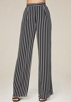 Bebe Striped Wide Leg Pants