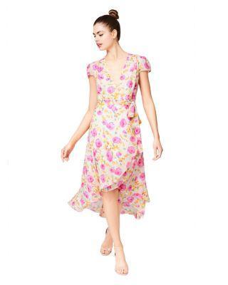 Steve Madden For The Frill Of It Wrap Dress Multi