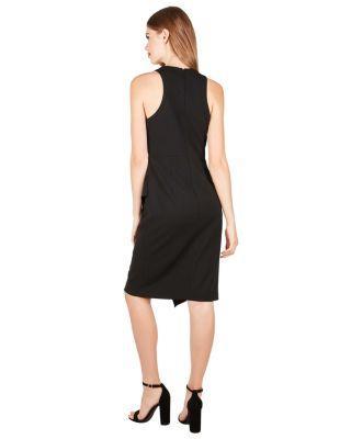 Steve Madden Ruffle It Up Sleeveless Dress Black