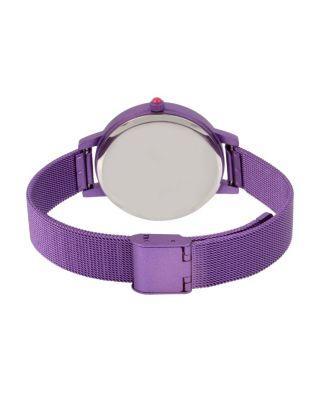 Steve Madden Color Time Purple Heart Watch Purple
