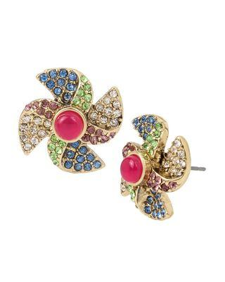 Steve Madden Summer Minis Pinwheel Earrings Multi