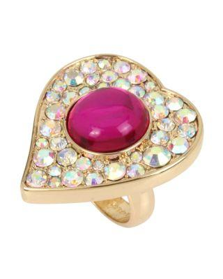 Steve Madden Breaking Hearts Ring Pink