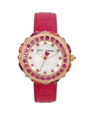 Steve Madden Crystals In 3d Watch Pink