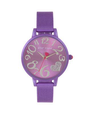 Steve Madden Color Time Black Purple Watch Purple
