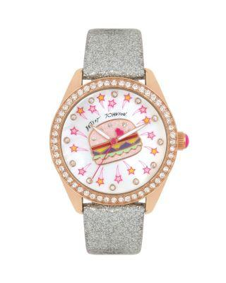 Steve Madden Diner Time Burgertastic Watch Gold