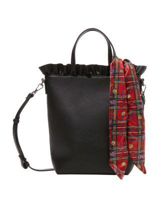 Steve Madden Ruffles For Days Top Handle Tote Black