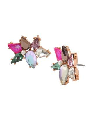 Steve Madden Duchess Of Betseyville Cluster Stud Earrings Multi