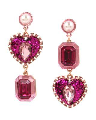 Steve Madden Not Your Babe Stone Earrings Pink