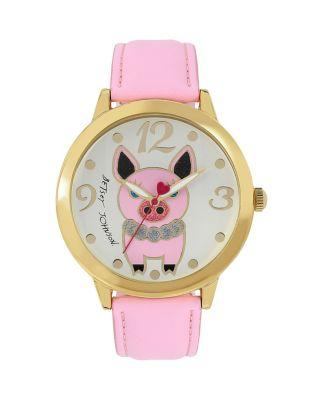 Steve Madden Princess Pig Watch Pink