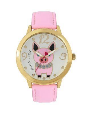 Steve Madden Princess Pig Watch Pink