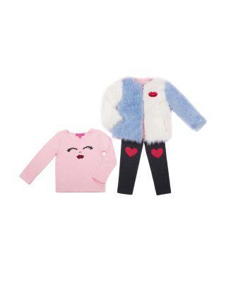Steve Madden Betseyest 4-6x 3 Piece Jacket Set Pink