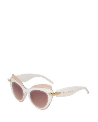 Steve Madden Top Shelf Cat Eye Sunglasses White