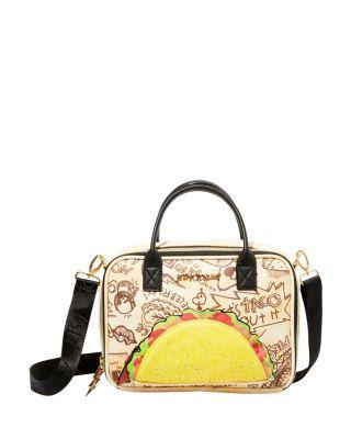 Steve Madden Kitsch Lets Taco About It Lunch Tote Natural