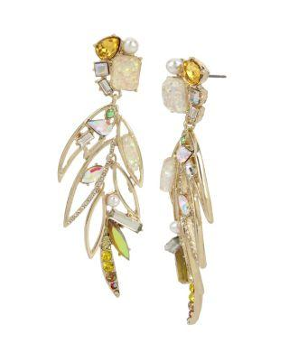 Steve Madden Statement Critters Cockatoo Earrings Yellow